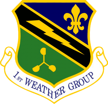 Coat of arms (crest) of the 1st Weather Group, US Air Force