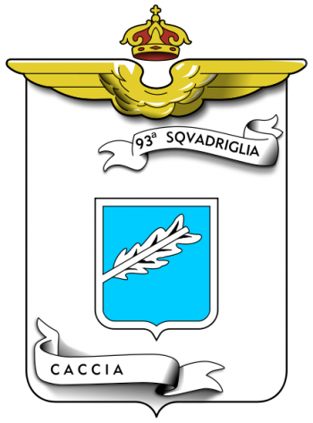 Coat of arms (crest) of the 93rd Fighter Squadron, Regia Aeronautica