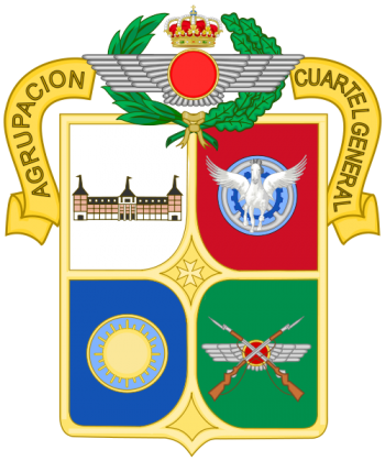 Coat of arms (crest) of the General Headquarters Group, Spanish Air Force
