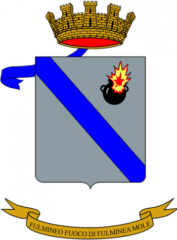 Coat of arms (crest) of the 131st Artillery Regiment, Italian Army
