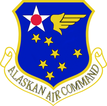 Coat of arms (crest) of the Alaskan Air Command, US Air Force