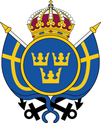 Coat of arms (crest) of the The Equipage Company, Naval Base in Karlskrona, Swedish Navy
