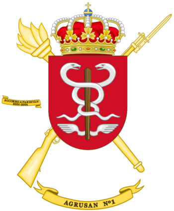 Coat of arms (crest) of the 1st Army Health Services Grouping, Spanish Army