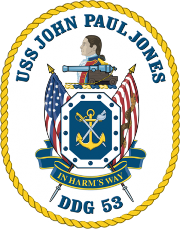 Coat of arms (crest) of the Destroyer USS John Paul Jones