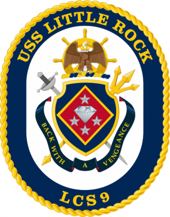 Coat of arms (crest) of the Littoral Combat Ship USS Little Rock (LCS-9)