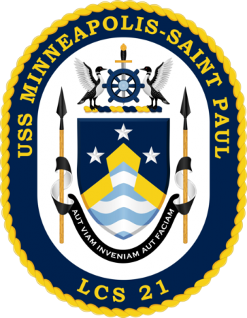 Coat of arms (crest) of the Littoral Combat Ship USS Minneapolis-Saint Paul (LCS-21)