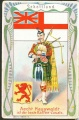 Arms, Flags and Folk Costume trade card Schottland