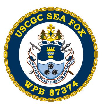 Coat of arms (crest) of the USCGC Sea Fox (WPB-87374)