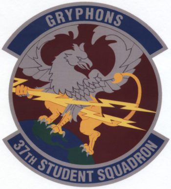 Coat of arms (crest) of the 37th Student Squadron, US Air Force