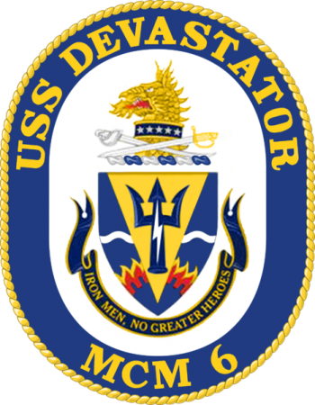 Coat of arms (crest) of the Mine Countermeasures Ship USS Devastator