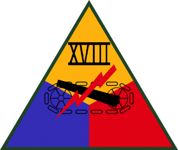 Coat of arms (crest) of the XVIII Armored Corps, US Army