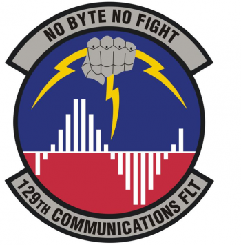 Coat of arms (crest) of the 129th Communications Flight, US Air Force