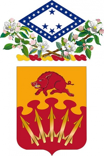 Coat of arms (crest) of the 233rd Air Defense Artillery Regiment, Arkansas Army National Guard