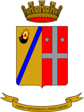 Coat of arms (crest) of the 6th Artillery Specialist Group Montello, Italian Army