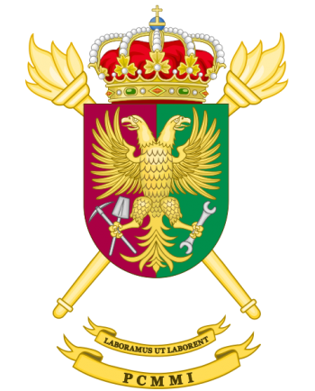 Coat of arms (crest) of the Military Engineers Equipment Maintenance Park and Center, Spanish Army