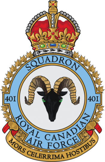 Coat of arms (crest) of the No 401 Squadron, Royal Canadian Air Force