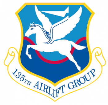 Coat of arms (crest) of the 135th Airlift Group, Maryland Air National Guard