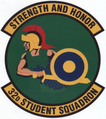 Coat of arms (crest) of the 32nd Student Squadron, US Air Force