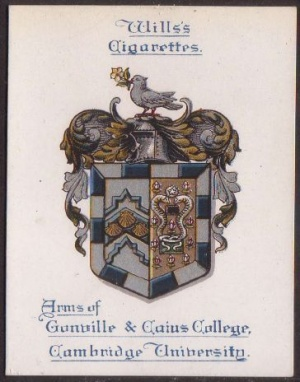 Arms of Gonville & Caius College (Cambridge University)