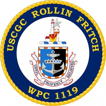 Coat of arms (crest) of the USCGC Rollin Fritch (WPC-1119)