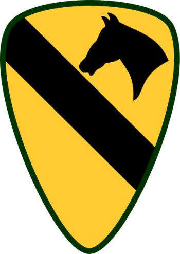 Arms of 1st Cavalry Division First Team, US Army