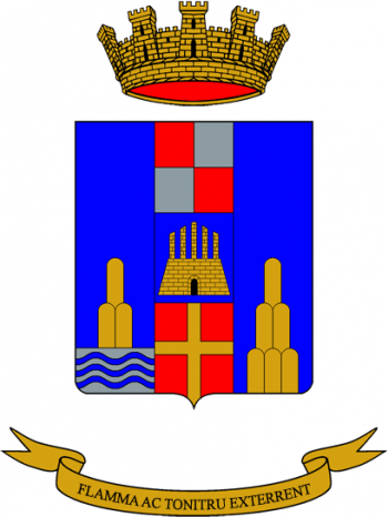 Coat of arms (crest) of the 1st Heavy Artillery Group Adige, Italian Army