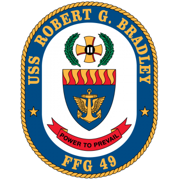 Coat of arms (crest) of the Frigate USS Robert G. Bradley (FFG-49)