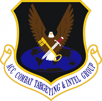 Coat of arms (crest) of the Air Combat Command Combat Targeting and Intelligence Group, US Air Force