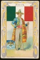 Arms, Flags and Folk Costume trade card Mexico
