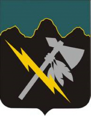 Arms of Special Troops Battalion, 2nd Infantry Division, US Army