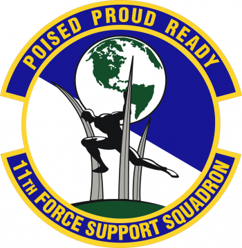 Coat of arms (crest) of the 11th Forces Support Squadron, US Air Force