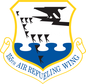 Coat of arms (crest) of the 155th Air Refueling Wing, Nebraska Air National Guard