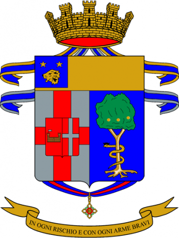 Coat of arms (crest) of the 157th Infantry Regiment Leoni di Liguria, Italian Army