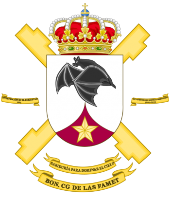 Coat of arms (crest) of the Army Airmobile Force Headquarters Battalion, spanish Army