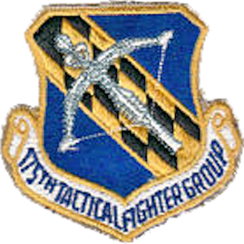 Coat of arms (crest) of the 175th Tactical Fighter Group, Maryland Air National Guard