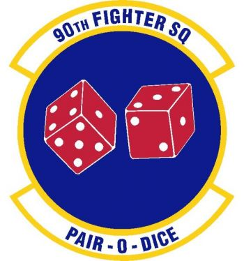 Coat of arms (crest) of the 90th Fighter Squadron, US Air Force