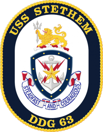 Coat of arms (crest) of the Destroyer USS Stethem