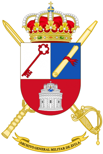 Coat of arms (crest) of the General Military Archive of Ávila, Spanish Army