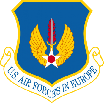 Coat of arms (crest) of the US Air Forces in Europe, US Air Force