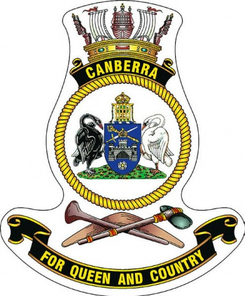 Coat of arms (crest) of the HMAS Canberra, Royal Australian Navy