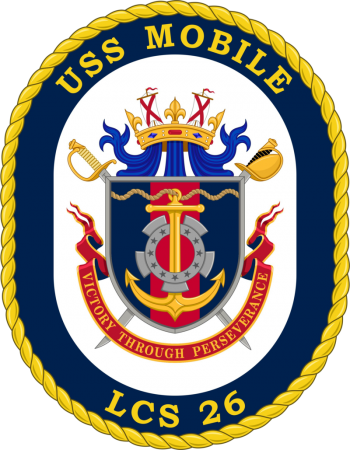 Coat of arms (crest) of the Littoral Combat Ship USS Mobile (LCS-26)