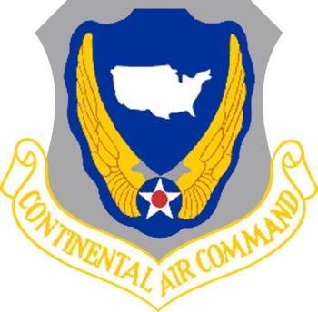 Coat of arms (crest) of the Continental Air Command, US Air Force