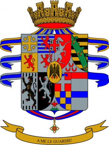 Coat of arms (crest) of the 1st Regiment Granatieri di Sardegna, Italian Army