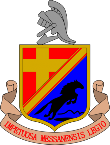 Coat of arms (crest) of the 93rd Infantry Regiment Messina, Italian Army