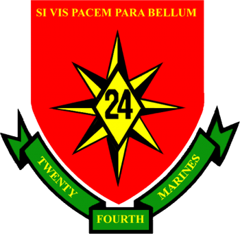 Coat of arms (crest) of the 24th Marine Regiment, USMC