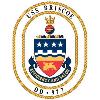 Coat of arms (crest) of the Destroyer USS Briscoe (DD-977)