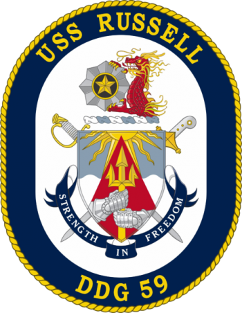 Coat of arms (crest) of the Destroyer USS Russell