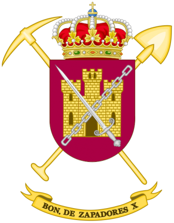 Coat of arms (crest) of the Sapper Battalion X, Spanish Army