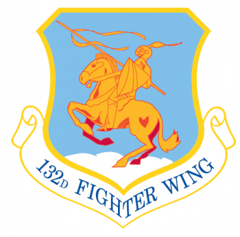 Coat of arms (crest) of the 132nd Wing, Iowa Air National Guard