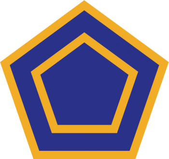 Coat of arms (crest) of the 55th Infantry Division (Phantom Unit), US Army